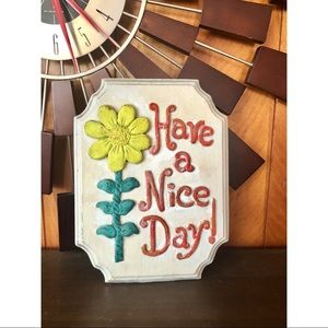 #newtocloset Vintage Handmade Clay Sign